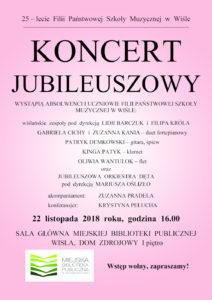 Plakat koncertu 25-lecie PSM wWiśle