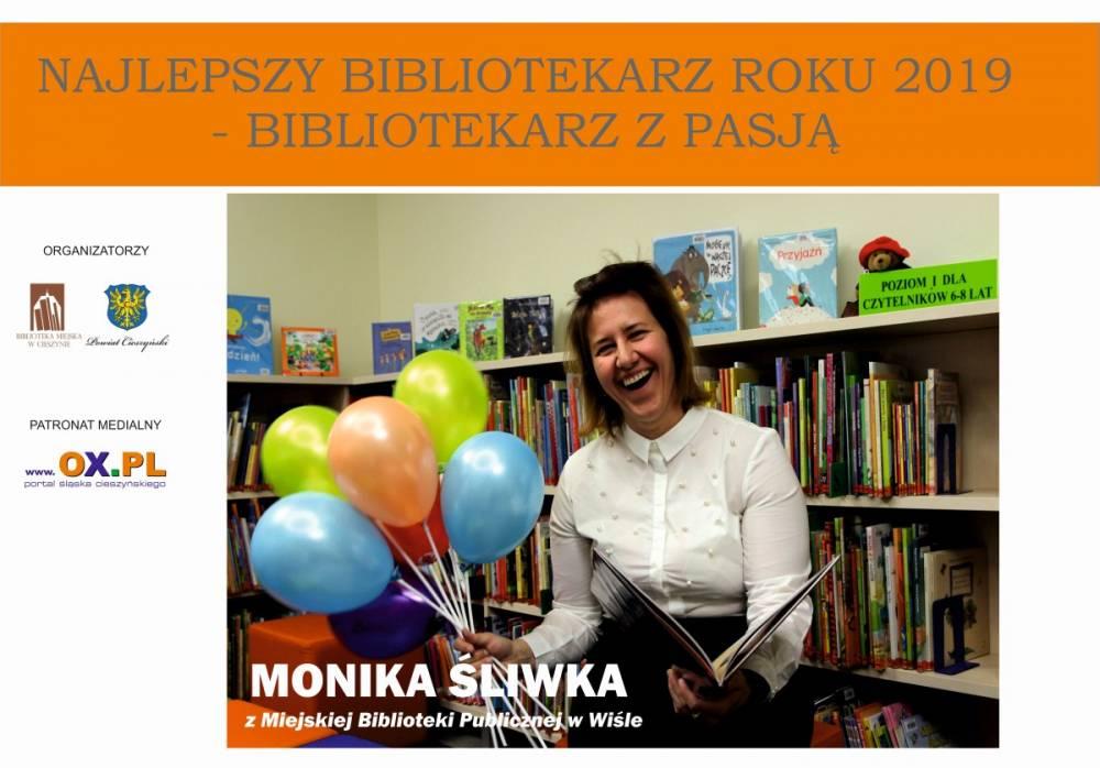 Monika Śliwka została bibliotekarzem roku 2019 wpowiecie cieszyńskim