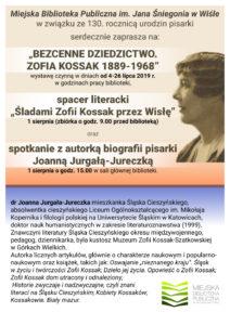 Plakat - 130 rocznica urodzin Zofii Kossak