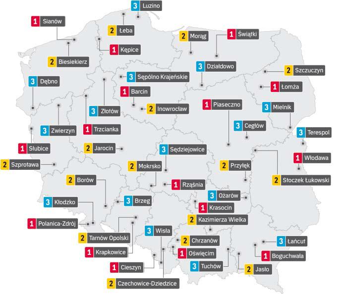 Mapka Polski - ranking bibliotek 2020